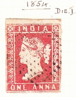 INDIA 1854 1A Red Die I SG12 Used - Unclassified