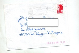 Lettre Flamme Angers Festival - Marcophilie (Lettres)