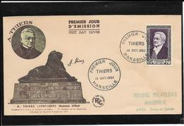 FDC 1952 - 935 THIERS - FDC