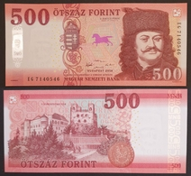 HUNGARY HONGRIE UNGARN 500 / 500 FORINT - 2018 Edition UNC BANKNOTE - Horse Fortress Castle Rákóczi - Hongrie