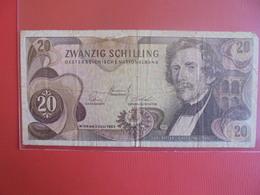 AUTRICHE 20 SCHILLING 1967 CIRCULER - Autriche