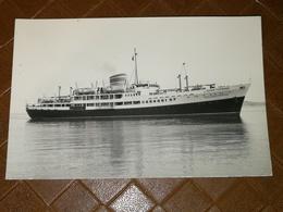CPA CARTE PHOTO POSTCARD Navire Côtier George Potamianos Kolokotronis (Ligne Potomianos (Epirotiki)) RARE - Paquebots