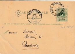 "België ENTIER Nr. 19 C ""TOURNAI 19 OCTO 1892"" MET PRIVAATOPDRUK / REPIQUAGE "" Soc. SAINT JEAN L'EVANGELISTE Desclée"" - Stamped Stationery"