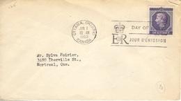 CANADA  263 (o) Reine Elizabeth Queen II Elisabeth II Cachet FDC Premier Jour Ottawa 1 Juin 1953 - Premiers Jours (FDC)
