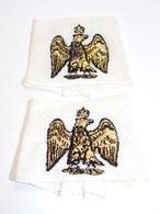 """Insigne Militaire Tissu - Passant D'épaule Avec """"Aigle Impérial Couronné"""" - Military Badges P.V. - Ecussons Tissu"""