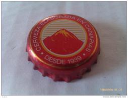Chapa Kronkorken Cap Tappi Cerveza Dorada. Islas Canarias. España. - Cerveza