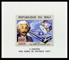 Mali 1454 Feuillet Imperforé Prix Nobel De Physique , Albert Einstein - Albert Einstein