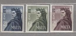 MALTA 1965 Dante MNH(**) Mi 320-322 #24134 - Malte