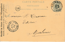 "België ENTIER Nr.14A (Antwoord) ""NAMUR 26 DECE 1882"" MET PRIVAATOPDRUK / REPIQUAGE ""IMPRIMERIE De WESMAEL-CHARLIER Namur - Stamped Stationery"