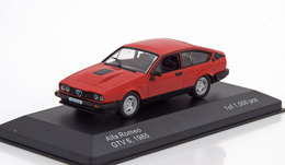 ALFA ROMEO GTV 6 1985 RED WHITEBOX WB154 1/43 ROSSO ROT GTV6 ITALIE ITALIA - Ixo