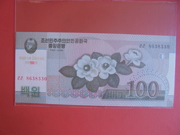 COREE(NORD) 100 WON 2008 PEU CIRCULER/NEUF - Corée Du Nord
