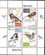 Sparrows - Bulgaria / Bulgarie 2017 - Sheet MNH** - Moineaux