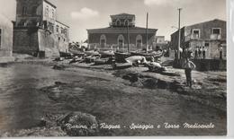 Cartolina - Postcard -non Viaggiata -not Sent  - Marina Di Ragusa, Spiaggia E Torre Medievale  ( Gran Formato ) - Ragusa