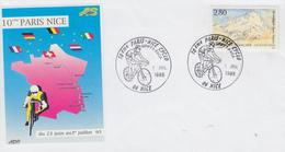 Enveloppe  FRANCE   10éme  PARIS - NICE   Cyclo    NICE   1995 - Cyclisme
