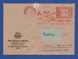 DR Firmenbrief AFS - OBERKIRCH, Progress-Werk Fahrrad-Motorrad-Automobil Usw. 1942 - Deutschland