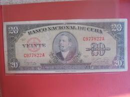 CUBA 20 PESOS 1949 CIRCULER - Cuba