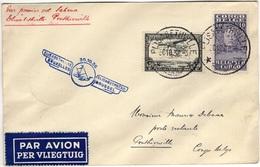 CONGO BELGE 136 Pa7 1er Vol Flight Sabena Elisabethville Bruxelles Escale Ponthierville Ubundu Stanleyville 1936 - Belgian Congo