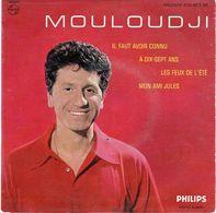 Disque 45 Tours De Mouloudji - à Dix-sept Ans - Philips 432.453 BE - 1960 - - Vinyles
