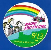 A.C LE MANS 94.3 FM Radio ARC-EN-CIEL - Autocollants
