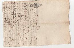 Ardèche St Félicien Bozas Quart De Papier 1679 - Cachets Généralité