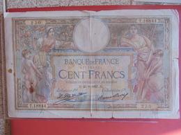 FRANCE 100 FRANCS 1927 CIRCULER - 1871-1952 Circulated During XXth