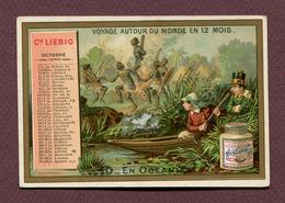 """LIEBIG  : CALENDRIER  """" OCTOBRE 1888 """" - Calendars"""