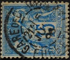 -Sage N°90 Type Ll. O GARE DE CHARTRES.1896. - 1876-1898 Sage (Type II)