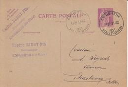 EP Y&T 281-CP1 Obl ENSISHEIM Du 31.12.1935 Adressée à Strasbourg - Poststempel (Briefe)