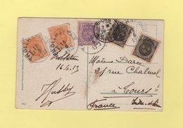 Suede - Trollhattan - 16-6-1913 - Carte Postale Destination France - Suecia