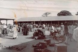 ¤¤  -  GAMBIE   -  BATHURST  -  BANJUL  -  Cliché Albuminé Du Marché  -  Voir Description    -  ¤¤ - Gambia