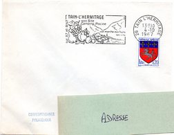 DROME - Dépt N° 26 = TAIN L' HERMITAGE 1967 = Flamme Codée SUPERBE = SECAP Illustrée 'FRUITS + VINS' - Marcophilie (Lettres)