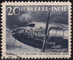 NIEDERLANDE NETHERLANDS Indien [1939] MiNr 0254 ( O/used ) Flugzeug - Niederländisch-Indien
