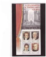 """FOGLIETTO NUOVO**   """" IL MELODRAMMA E IL TEATRO LIRICO ITALIANO """" 2001 - SASSONE N. 32 - Blocchi & Foglietti"""