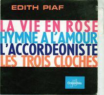 Disque 45 Tours De Edith Piaf - La Vie En Rose - Columbia ESRF 1051 M - 1960 - Vinyles