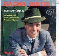 Disque 45 Tours De Sacha Distel - Mon Beau Chapeau - Philips - 432.452 BE - 1960 - Vinyles