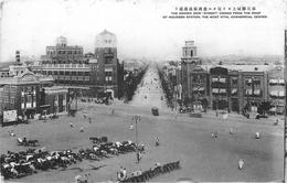 SHENYANG - THE NANIWA DORI FROM ROOF OF MOUKDEN STATION ~ AN OLD POSTCARD #85831 - China