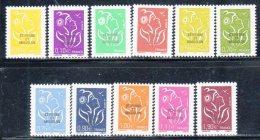 ST PIERRE ET MIQUELON - N° 829/839  **(2005) 11 Valeurs Marianne - St.Pierre & Miquelon
