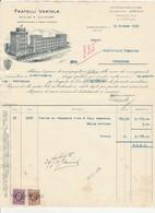 Fattura Su Carta Intestata FRATELLI VAROLA Molini A Cilindri - Cordovado 1939 - Italia