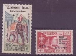 Laos N° 69 à 70** Neuf Sans Charniere - Laos