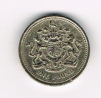 /  GREAT BRITAIN  1 POUND   1983 - 1 Pound