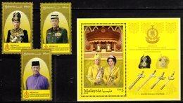 MALAYSIA , 2018, MNH,LEADERS, SULTAN OF KEDAH, SWORDS, 3v+S/SHEET - Otros