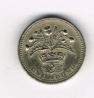 /  GREAT BRITAIN  1 POUND   1984  SCOTTISH  THISTLE - 1 Pound