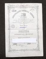Collezionismo - Assicurazioni Generali Venezia - Polizza Danni Incendi - 1899 - Vecchi Documenti
