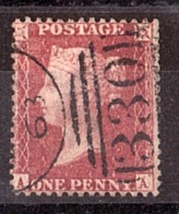 GB - 1855/58 - N° 14 (dentelé 14) - Victoria - AA - Obl.330 Halifax - Gebruikt