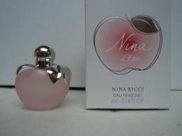 """NINA RICCI """" NINA :L'EAU"""" MINI EAU FRAICHE  4 ML  GRANDE BOITE  LIRE ET VOIR !! - Miniatures Modernes (à Partir De 1961)"""