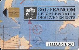 CARTE°-PUCE-PRIVEE-D-1990-D338-GEM-FRANCOM-3617-MINITEL-Utilsé-R°TBE-V° Legerement Jauni - France