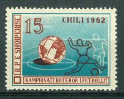 BM Albanien 1962 | MiNr 676 | MNH | Fußball Weltmeisterschaft, Chile - Albanie