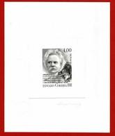 Pierre ALBUISSON  2e Graveur Mondial(contrôle:Imprimerie Des Timbres-Poste Cachet Sec) GravureTimbre MONACO Edward GRIEG - Timbres