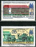 DDR - Mi 2208 / 2209 - OO Gestempelt (B) - 10-25Pf             Leipziger Frühjahrsmesse 77 - DDR