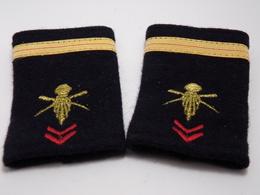 Insigne Militaire Tissu - Fourreaux D'Epaulettes (Adjudant Chef D'Infanterie) - Military Badges P.V. - Uniformes